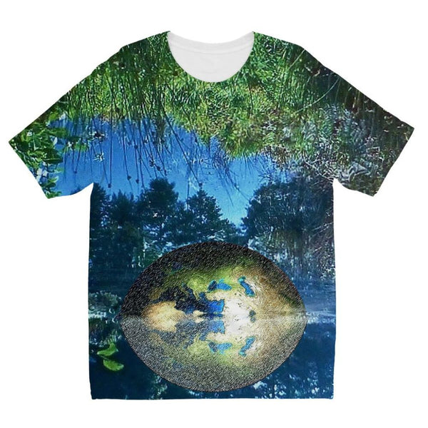 Water Pond Covered Kids Sublimation T-Shirt 3-4 Years Apparel