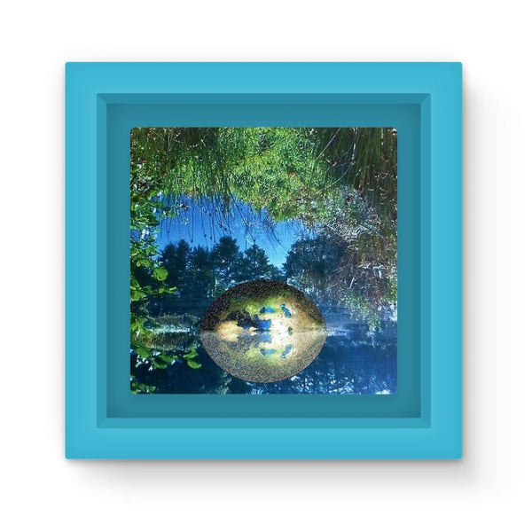 Water Pond Covered Magnet Frame Light Blue Homeware