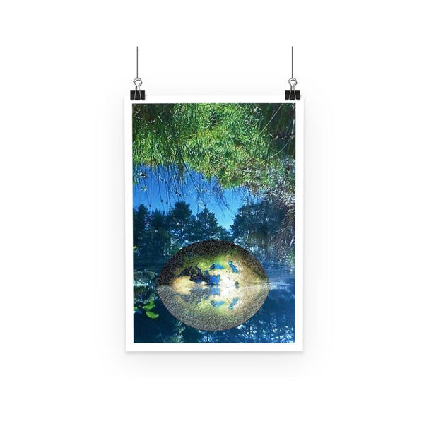 Water Pond Covered Poster A3 Wall Decor