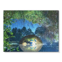 Water Pond Covered Stretched Canvas 16X12 Wall Decor
