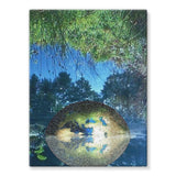 Water Pond Covered Stretched Canvas 24X32 Wall Decor