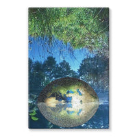 Water Pond Covered Stretched Canvas 24X36 Wall Decor