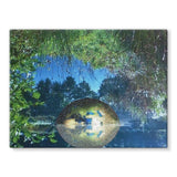 Water Pond Covered Stretched Canvas 32X24 Wall Decor