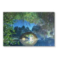 Water Pond Covered Stretched Canvas 36X24 Wall Decor