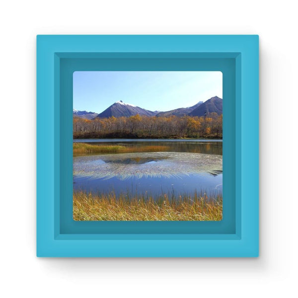 Wave In Lake Water Magnet Frame Light Blue Homeware