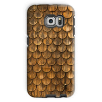 Weathered Wall Of Wooden Phone Case Galaxy S6 Edge / Tough Gloss & Tablet Cases