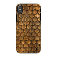 Weathered Wall Of Wooden Phone Case Iphone X / Tough Gloss & Tablet Cases