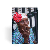 Women Smoking Cuban Cigars Greeting Card 1 Prints