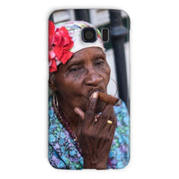 Women Smoking Cuban Cigars Phone Case Galaxy S6 / Snap Gloss & Tablet Cases