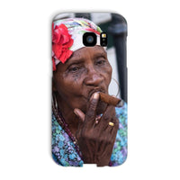 Women Smoking Cuban Cigars Phone Case Galaxy S7 Edge / Snap Gloss & Tablet Cases