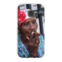 Women Smoking Cuban Cigars Phone Case Galaxy S7 Edge / Tough Gloss & Tablet Cases