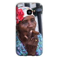 Women Smoking Cuban Cigars Phone Case Galaxy S7 / Snap Gloss & Tablet Cases