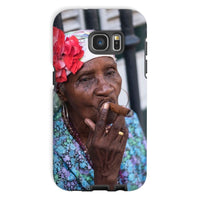 Women Smoking Cuban Cigars Phone Case Galaxy S7 / Tough Gloss & Tablet Cases