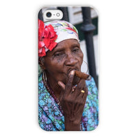 Women Smoking Cuban Cigars Phone Case Iphone 5C / Snap Gloss & Tablet Cases