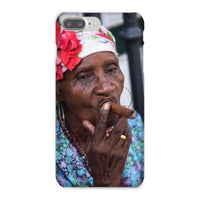 Women Smoking Cuban Cigars Phone Case Iphone 8 Plus / Snap Gloss & Tablet Cases