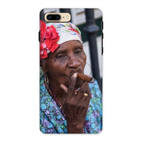 Women Smoking Cuban Cigars Phone Case Iphone 8 Plus / Tough Gloss & Tablet Cases
