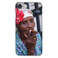 Women Smoking Cuban Cigars Phone Case Iphone 8 / Snap Gloss & Tablet Cases