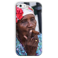 Women Smoking Cuban Cigars Phone Case Iphone Se / Snap Gloss & Tablet Cases