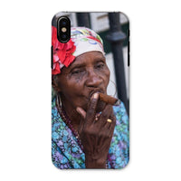 Women Smoking Cuban Cigars Phone Case Iphone X / Snap Gloss & Tablet Cases