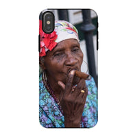 Women Smoking Cuban Cigars Phone Case Iphone X / Tough Gloss & Tablet Cases