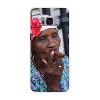 Women Smoking Cuban Cigars Phone Case Samsung S8 Plus / Tough Gloss & Tablet Cases