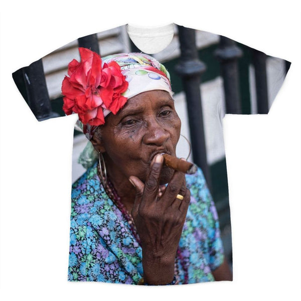 Women Smoking Cuban Cigars Sublimation T-Shirt Xs Apparel