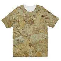 Wood Background Texture Kids Sublimation T-Shirt 3-4 Years Apparel