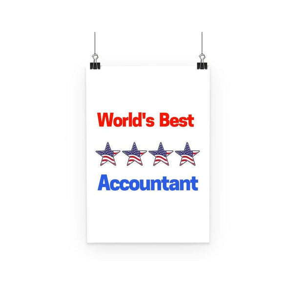 Worlds Best Accountant Poster A3 Wall Decor