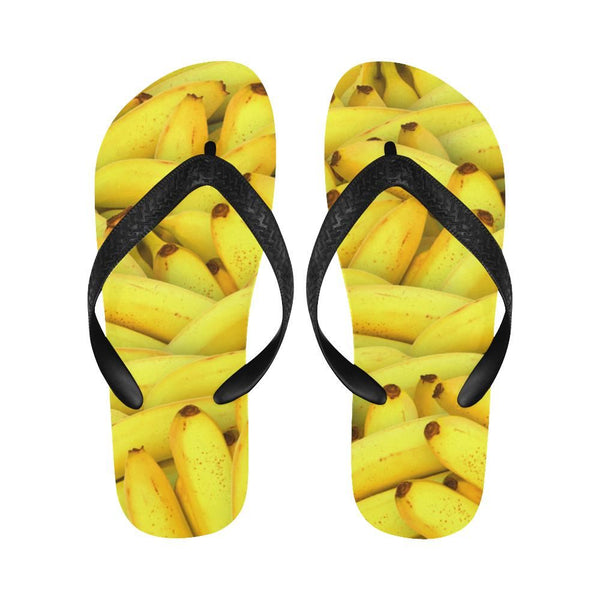 Yellow Bananas Fruit Pattern Flip Flops For Men/women (040)