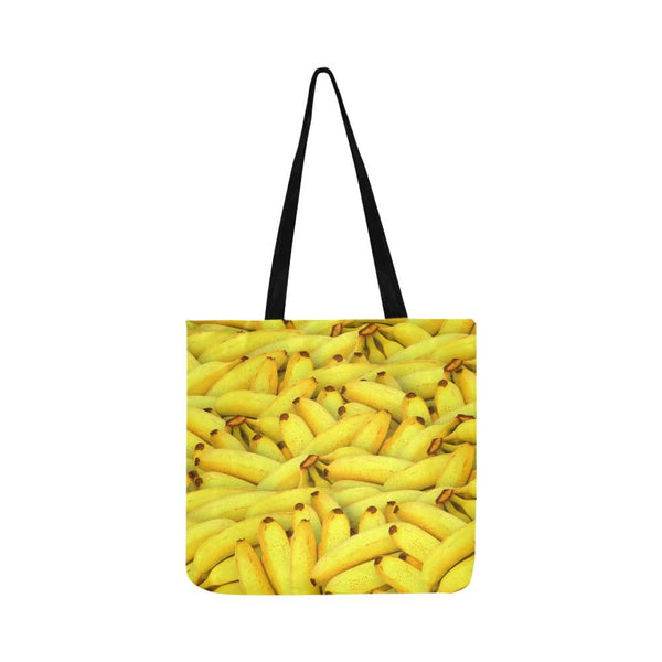 Yellow Bananas Fruit Pattern Reusable Tote Shopping Bag (Two Sides) (1660)