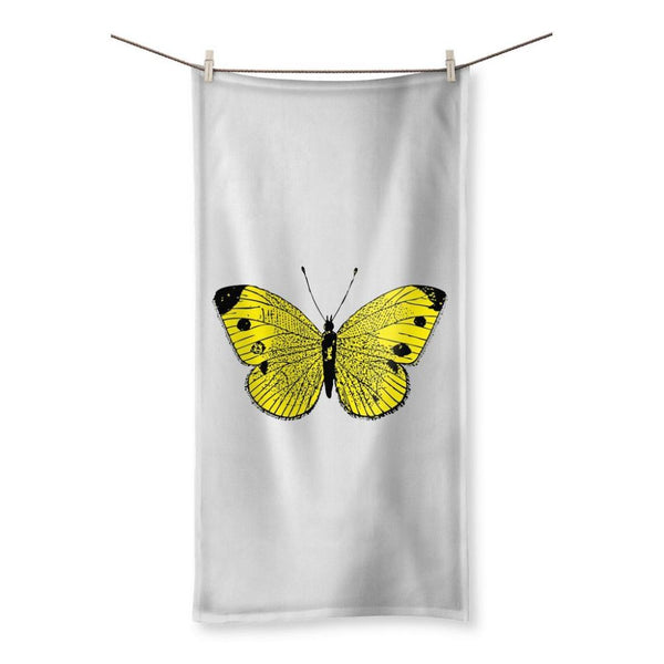 Yellow Comic Butterfly Beach Towel 19.7X39.4 Homeware