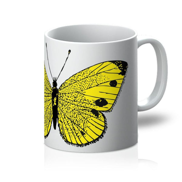Yellow Comic Butterfly Mug 11Oz Homeware
