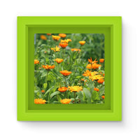 Yellow Flowers Fields Magnet Frame Green Homeware