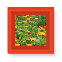 Yellow Flowers Fields Magnet Frame Red Homeware