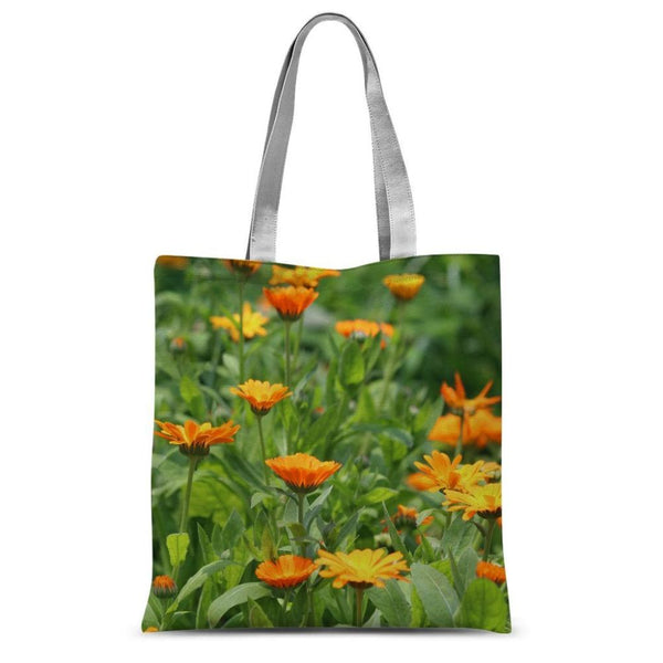 Yellow Flowers Fields Sublimation Tote Bag 15X16.5 Accessories