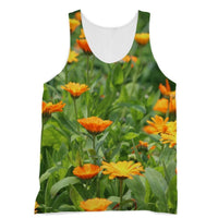 Yellow Flowers Fields Sublimation Vest Xs Apparel