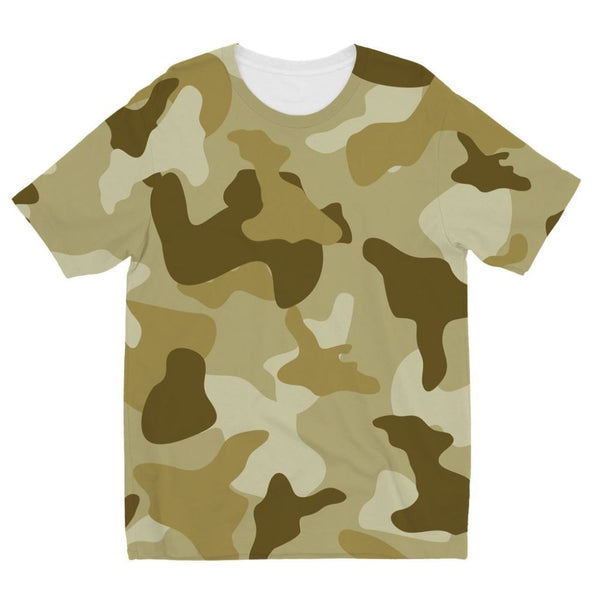 Yellow Sand Camo Kids Sublimation T-Shirt 3-4 Years Apparel