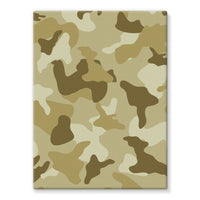 Yellow Sand Camo Stretched Canvas 12X16 Wall Decor