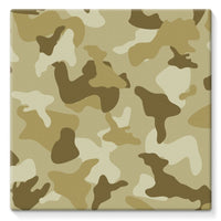 Yellow Sand Camo Stretched Canvas 14X14 Wall Decor