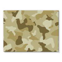 Yellow Sand Camo Stretched Canvas 16X12 Wall Decor