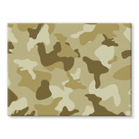 Yellow Sand Camo Stretched Canvas 24X18 Wall Decor