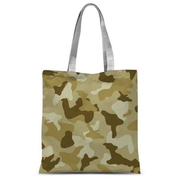 Yellow Sand Camo Sublimation Tote Bag 15X16.5 Accessories