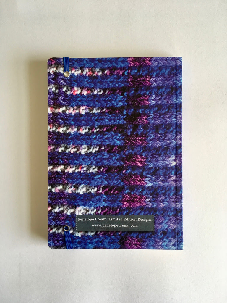 Cobalt 'Knitted' Notebook A5
