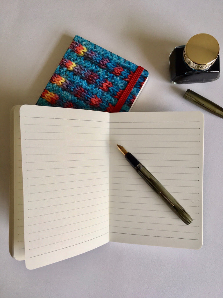 Turquoise 'Knitted' Notebook A6