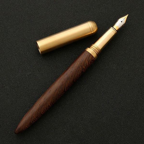 Wood Fountain Fine Nib 0.7mm Calligraphy Office Pen