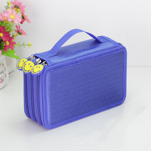 Canvas Large Capacity Pencil Storage Double Zipper Pouch