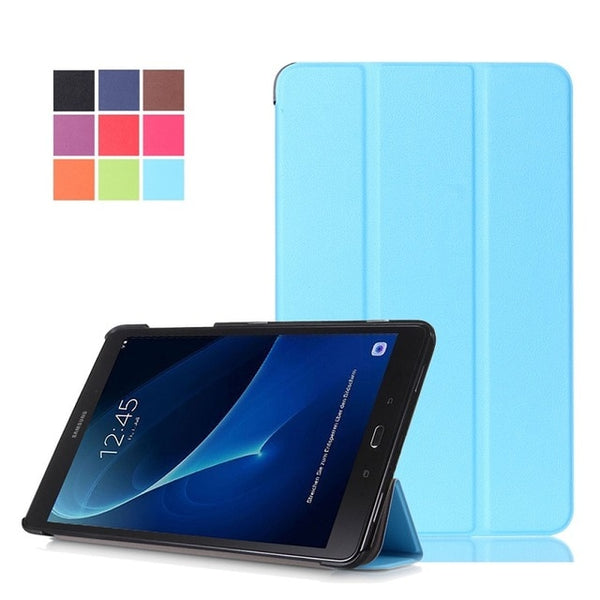Leather Shockproof Tri-Fold Back Stand Magnet Tablet Cover
