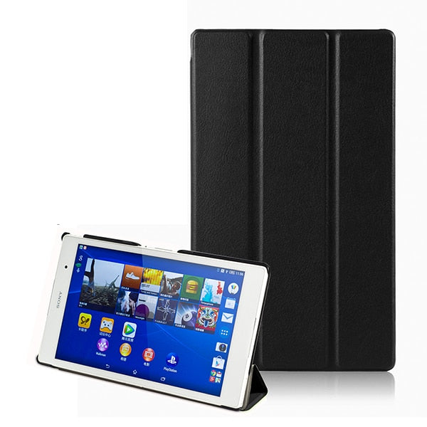 Leather Shockproof Tri-Fold Stand Flip Closure Magnet Tablet Cover