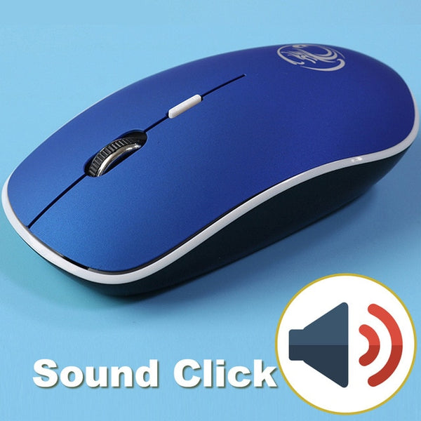 Wireless USB Sound Silent Click Mouse With 4 Buttons and 1 Roller