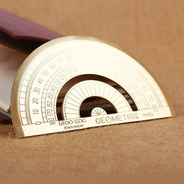 Round Stainless Steel Angle Measurement Protractor Ruler